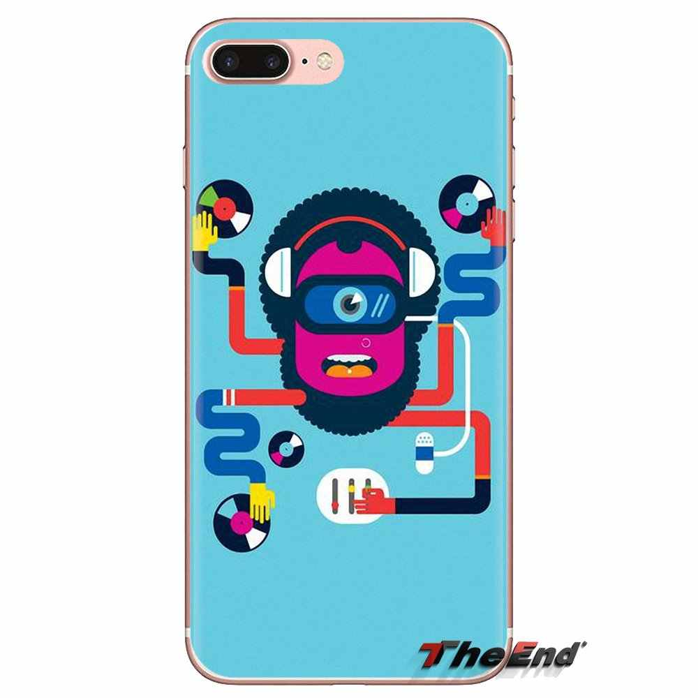 Para LG G3 G4 Mini G5 G6 G7 Q6 Q7 Q8 Q9 V10 V20 V30 X Power 2 3 K10 k4 K8 2017 Soft Case Covers Digital DJ Mixer Turntable Cartaz