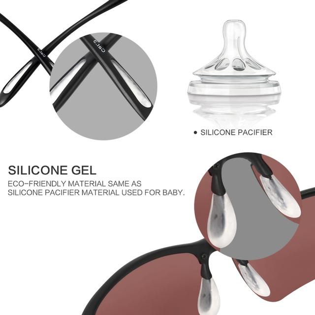 HODGSON Fishing Eyewear Ultralight Polarized Cycling Fishing Sunglasses Sports Goggles MTB Bicycle Bike Glasses TR90  8001