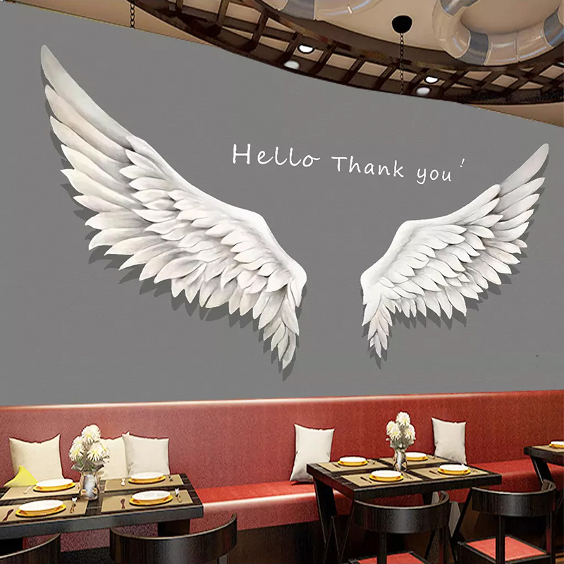 Custom 3D Photo Wallpaper Murals White Feather Wings Living Room Cafe Restaurant Photography Background Wall Decoration Painting
