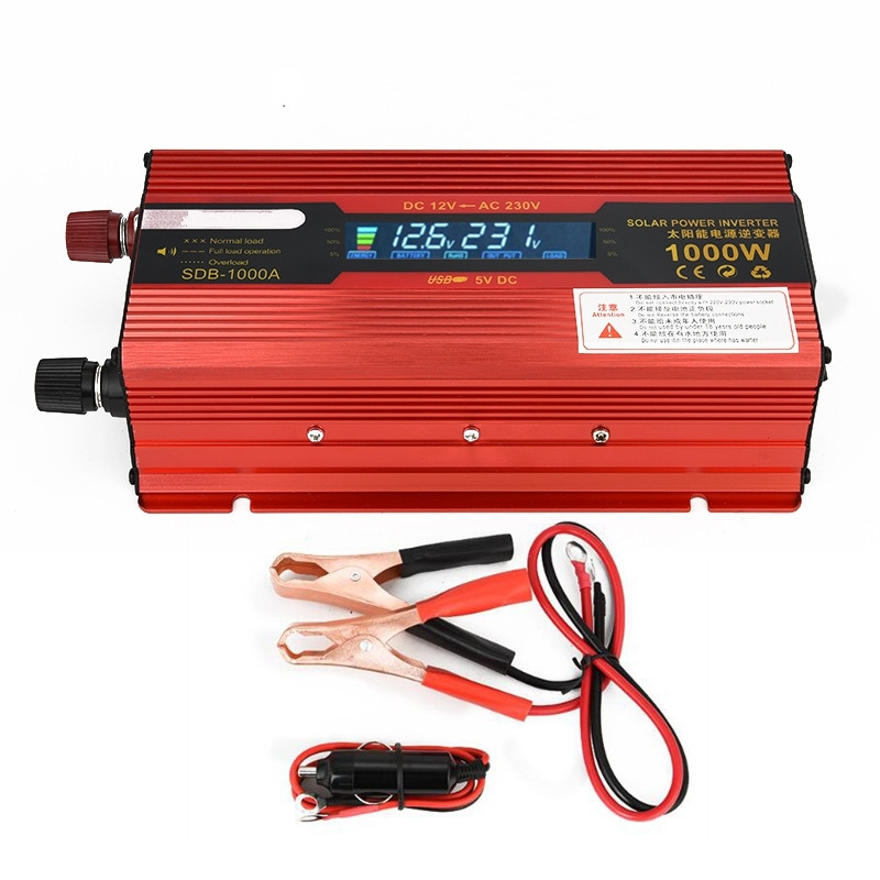 1000W Car Inverter Modified Sine Wave DC 12V to AC 220V Power Inverters Cars DC/AC Voltage Converter with LED Display USB Port high quality dc 12 to ac 220 modified sine wave 1000w dc12v to ac 220v car power inverter with usb charger converter adapter