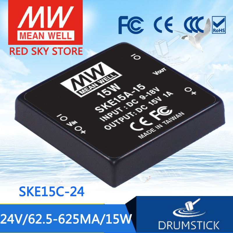 Advantages MEAN WELL SKE15C-24 24V 625mA meanwell SKE15 24V 15W DC-DC Regulated Single Output Converter