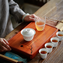 TANGPIN natural bamboo tea trays handpainted table chinese kung fu accessories
