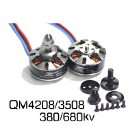 Tarot QM4208 3508 680 380KV CW Brushless Motors Disc Type Motors for S550 650 680 FPV RC Multicopter Quadcopter 6S Lipo Battery