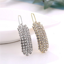 Women Classic Simple Rhinestones U Shape Hair Clips Full Of Barrettes Hairpins Gold Silver Crystal Holder
