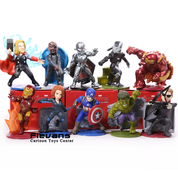 Avengers Age of Ultron Thor Black Widow Hawkeye Hulkbuster Ultron Hulk PVC Action Figures Toys 10pcs/set HRFG421Avengers Age of Ultron Thor Black Widow Hawkeye Hulkbuster Ultron Hulk PVC Action Figures Toys 10pcs/set HRFG421