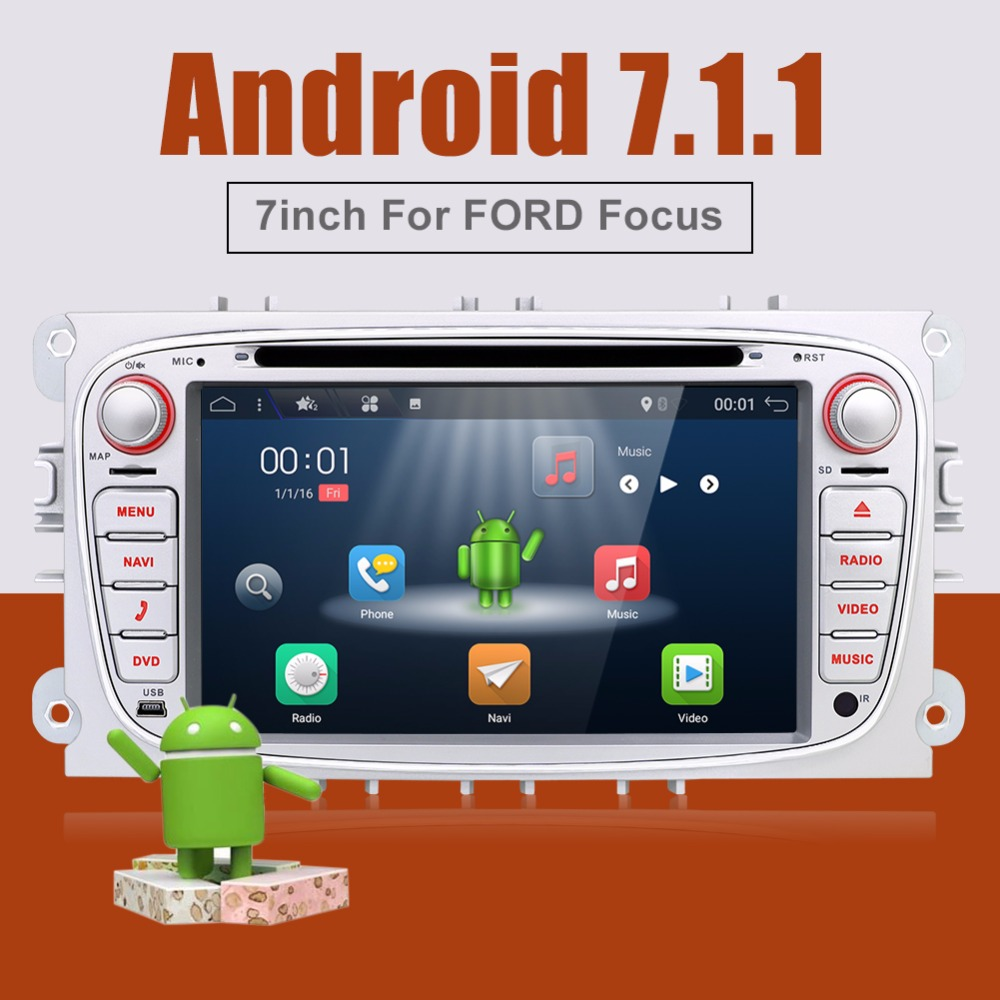 Android 6 0 Silver Two Din 7 Inch Car DVD Player For FORD Mondeo S MAX