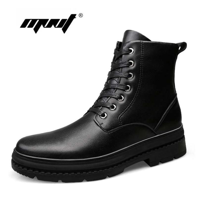 Super Warm Winter Boots Men Snow Boots With Fur Keep Warm Platform Men Winter Snow Shoes Men Waterproof Ankle boots platform bowkont flocking snow boots page 6
