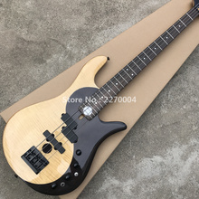 Flame Maple with 4 directories of hybrid active bass guitar mahogany