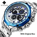 Brand WWOOR Men Watch Big Dial  Steel Men's Watches Military Male Luminous Mens Watches Waterproof Wristwatch Relogio Masculino