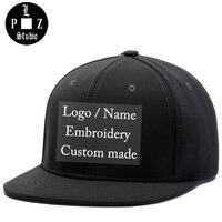 PLZ Customized Gift Embroidery Custom Logo Snapback Men Women Lover Family Friendship Team DIY Design Name
