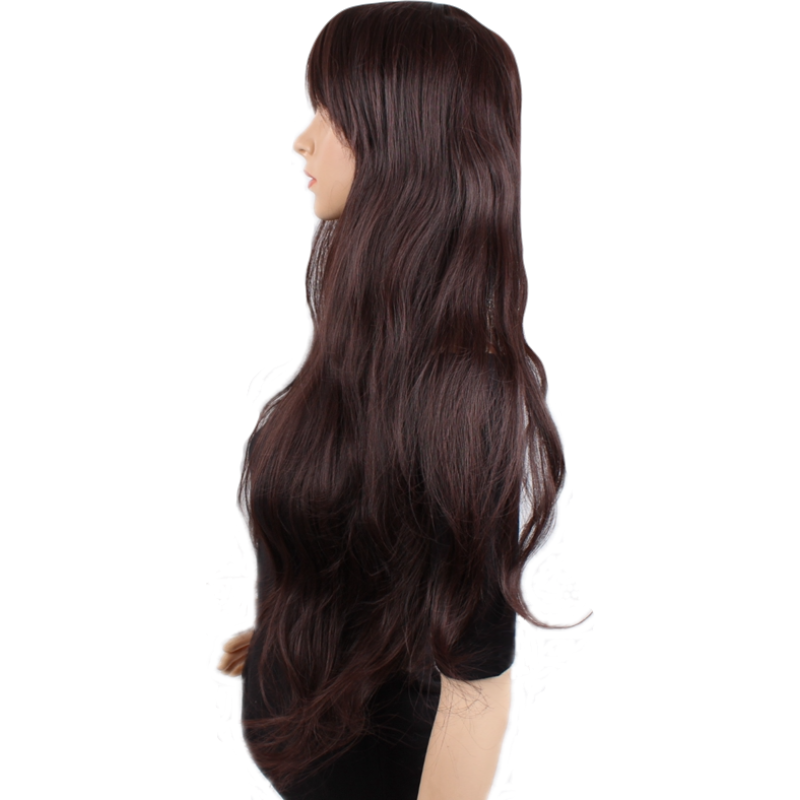 """Pelucas onduladas largas JOY & BEAUTY 32 """"Peluca de mujer marrón Peluca de pelo sintético resistente al calor malla de encaje mate para las mujeres"""