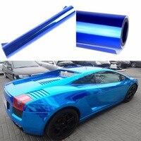 Wholesale 50cm 152cm Car Styling Reflective Metalic Glossy Vinyl Wrap Skin Car Sticker Sheet Roll Decal