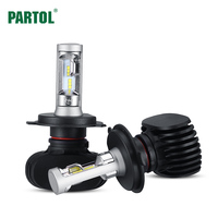 Partol S1 H4 9003 HB2 Car LED Headlight Conversion Kit Hi Lo Beam 50W 8000LM Automobile