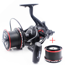 COONOR NFR9000+8000 Double Spool Fishing Reel 12+1 BB 4.6:1 Spinning Fishing Reel Folding Left/Right Handle Fishing Reel coonor nfr9000 nfr8000 4 6 1 12 1 bb full metal spinning fishing reel carp fishing coils with double spool folding handle