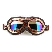 Motocicleta Óculos de Motocross Goggles Óculos Vintage Clássico Retro  Aviator Pilot Cruiser Scooter Steampunk Biker Eyewear 18ebc05319