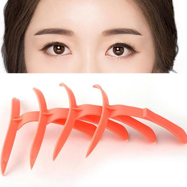 4pcs/Set Korean Design Microblading Training Makeup Tools Eyebrow Shaping Stencils Eyebrows Grooming Tools Stencil 1