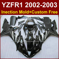Glossy black custom fairing for YAMAHA bodywork YZF1000 02 03 YZF R1 2002 2003 yzf r1 body parts Aftermarket +7gifts