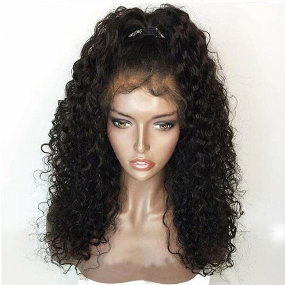 Curly 360 วิกผมด้านหน้าลูกไม้ด้านหน้าวิกผมหยิกก่อน Plucked ลูกไม้วิกผมด้านหน้า 360 ผมเด็กธรรมชาติผม Wigs-ใน วิกลูกไม้ผมจริง จาก การต่อผมและวิกผม บน AliExpress - 11.11_สิบเอ็ด สิบเอ็ดวันคนโสด 1