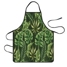 Nordic Style Apron Christmas Tree Deer Printing Brief Adult Apron with Big Pocket Kitchen Baking Cooking Accessories Bib Aprons(China)