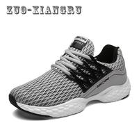Men Non Leather Casual Shoes Spring Autumn Breathable Lace Up Light High Quality Mesh Cloth Shoes
