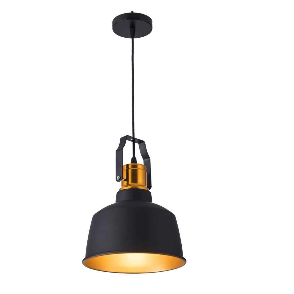 Industrial stye12W Aluminum vintage retro ceiling hanging light black led pendant lamp for dining restaurant bar lighting