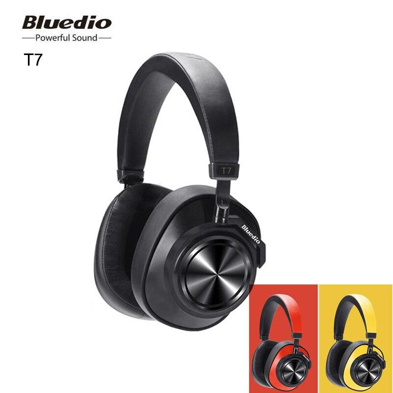 Bluedio T7 Bluetooth ecouteur casque sans fil défini par l'utilisateur actif suppression de bruit HiFi son casque micro reconnaissance du visage