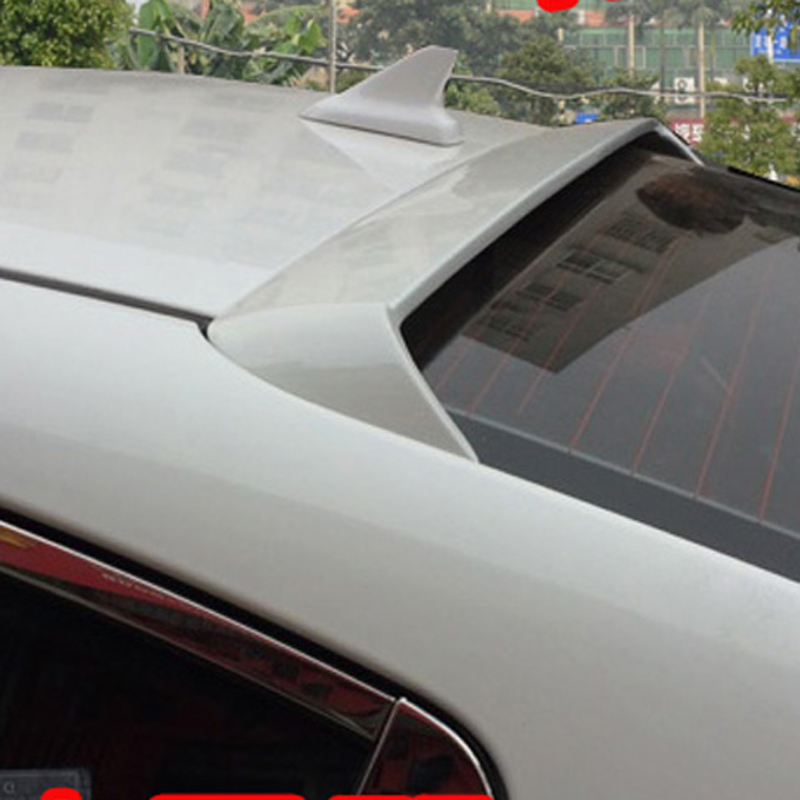 use for Kia cerato K3 spoiler 2016-2017 cerato K3 roof Spoiler High Quality ABS Material Car Rear Wing Primer Rear Spoiler