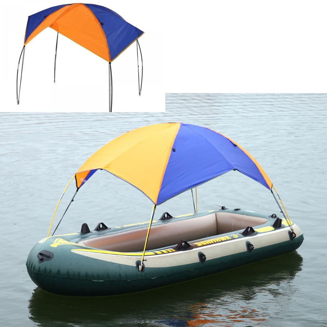Inflatable Kayak Boat Awning Canopy UV Sun Shade Shelter Rain Cover For 2 Person