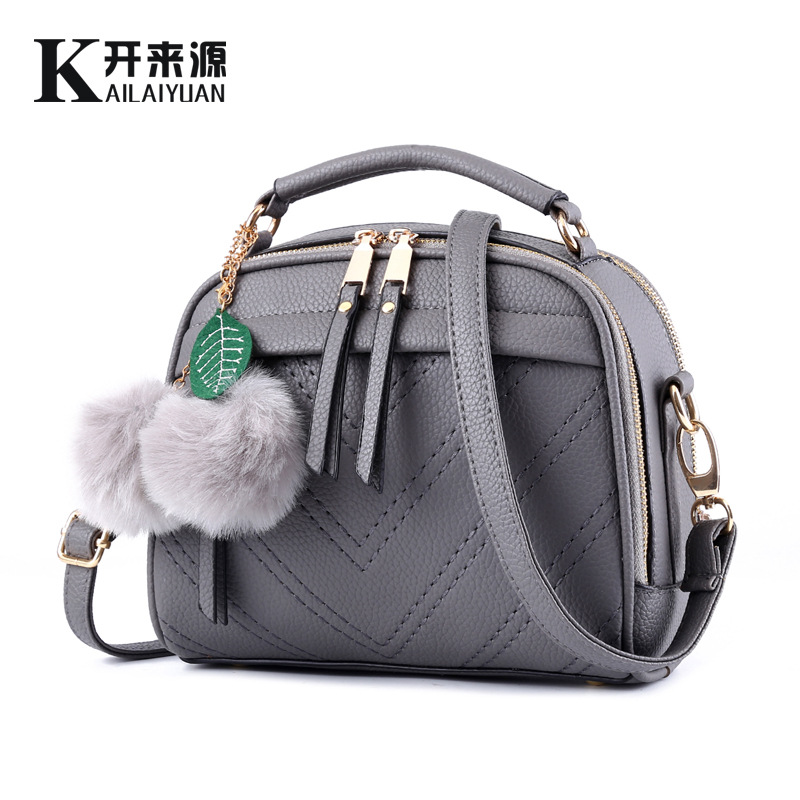 100% Genuine leather Women handbag 2018 new female bag fresh fragrant small Korean tide Fashion Shoulder Messenger Bag 1