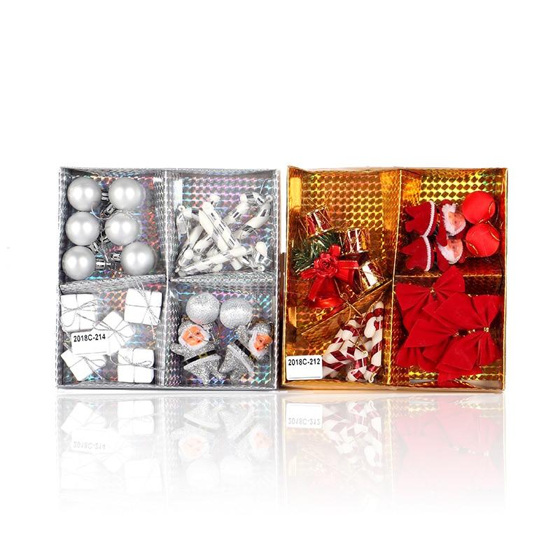 15PCS/ Box Christmas Tree Decoration Ornament Pendant New Year Beautifully Wrapped