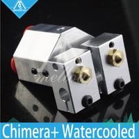 Mellow All metal Chimera+ water cooled e3d Hotend kit Multi extrusion V6 Dual Head bowden Titan Extruder 3D printer parts|chimera hotend|hotend extruder|3d printer v6 -