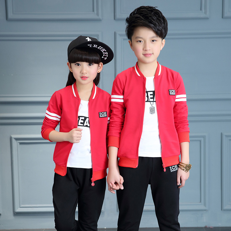 Children tracksuit for girl autumn boys clothing set kids suit set casual 3 Pcs sport suit for girl tracksuit 6 8 10 12 14 Year