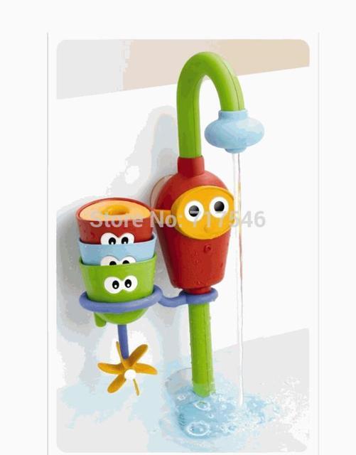 (3 peças/lote) do bebê brinquedos para o banho brinquedo spray de água eletrônico jogar torneiras música sustentada chuveiro spray