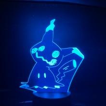 Pokemon Go Mimikyu Figure Baby Nightlight LED Color Changing Bedside Atmosphere Novelty Lamps Gift Usb Led Lamp Child