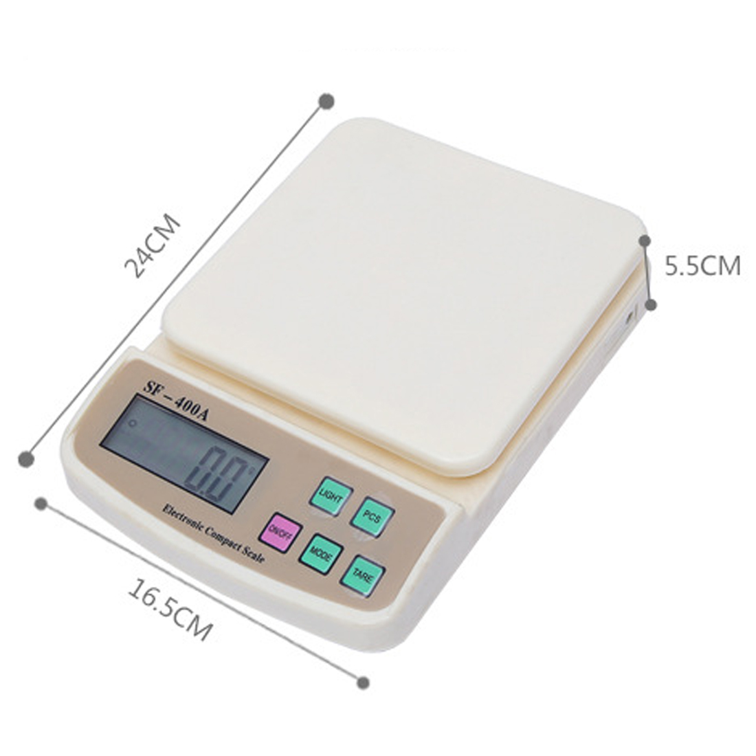 10Kg/1g Kitchen Weighing Scale LCD Display Backlight Scales kitchen foods Scale Mini Digital Electronic scales Pocket