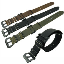 Handmade Crazy Horse Rough Hand Wax Genuine Leather Military Watch Strap Band  For Suunto Core Traverse Watchband все цены