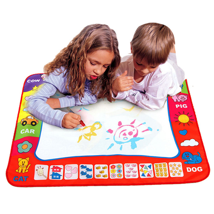 Drawing Toy 80cmx60cm New Water Drawing Mat Aqua Doodle Childrens Drawing Toys Mat Magic Pen Educational Toy 1 Mat+ 2 Wate