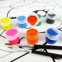 12 видов цветов с 2 красками, синие кисти в наборе, акриловые краски для масляной живописи, искусство ногтей, одежда, искусство, цифровая настенная живопись, набор