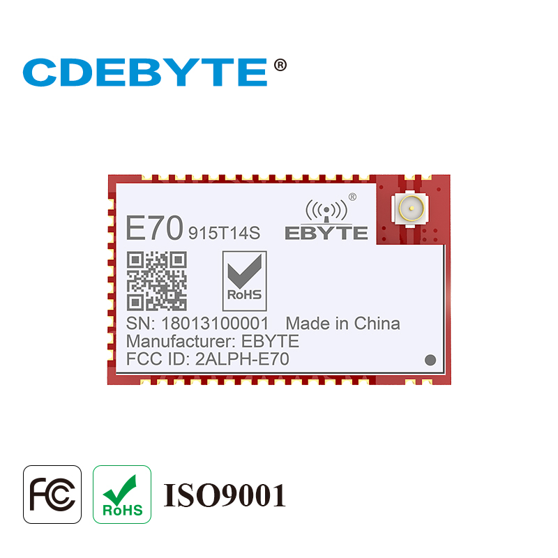 E70-915T14S CC1310 915MHz Rf Transceiver SMD 14dBm IPEX Antenna 915 MHz Wireless Transmitter And Receiver