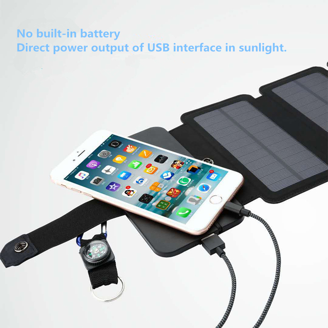 11W Folding Solar Panels Cells Charger  2