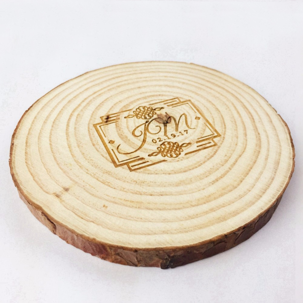Wood Round Slices Rustic Tree Branch 6pc Set 7 9cm Coasters Cup Bowl ...