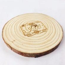 10 piezas 9-10 cm Rodajas de madera personalizables grandes posavasos tableta madera decoración rústica nombre patrón diseño DIY artesanías juguetes de los niños de bloques