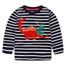 T shirts Littlemandy Boys Rroba për fëmijë 2018 Këpucë për fëmijë Dinosaur Animal për Veshje Fëmijët me mëngë të gjata Vjeshtë