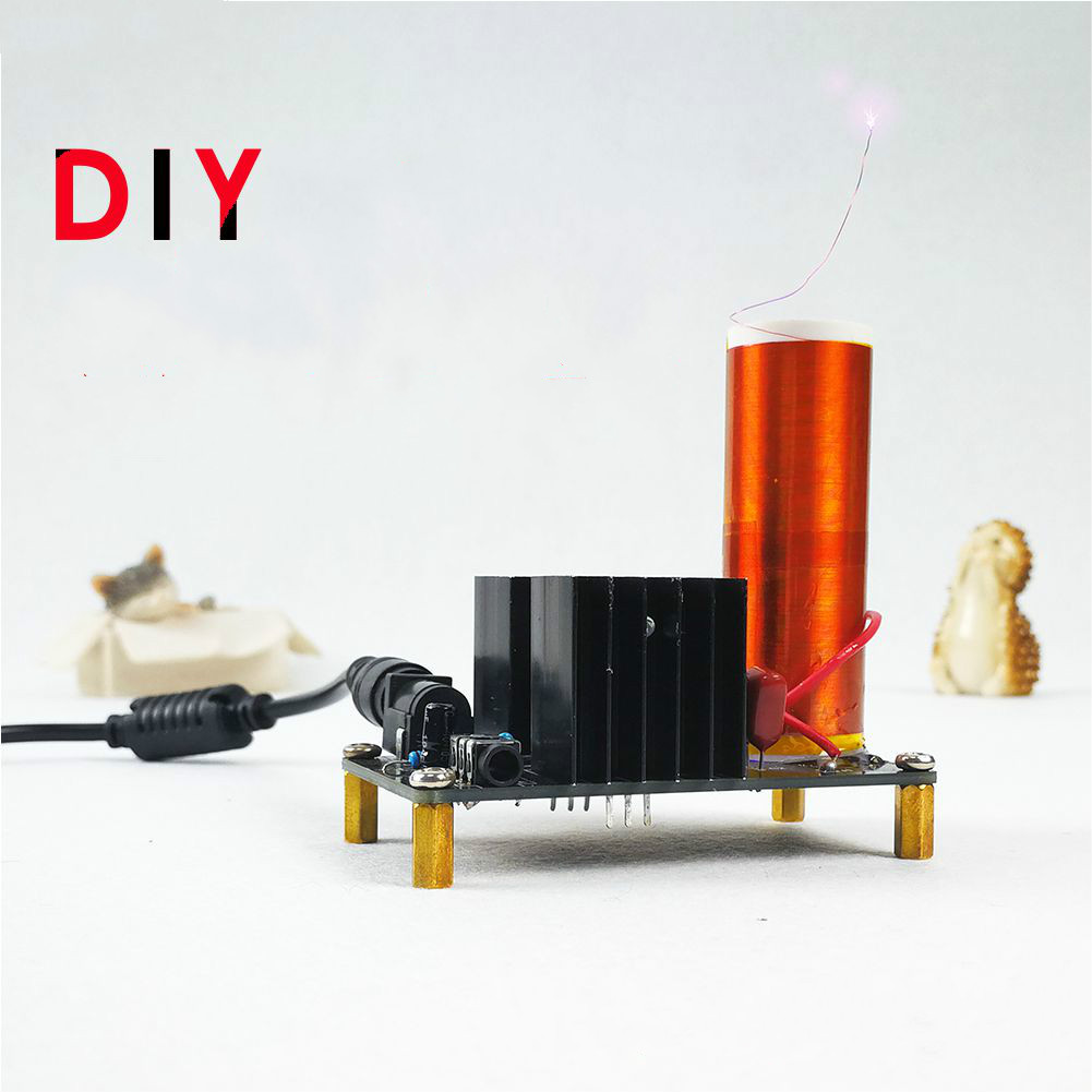 Plasma Speaker, DIY Mini Music, Tesla Coil, Electronic Production Kit mini tesla coil kit electronic science and technology of production of diy parts