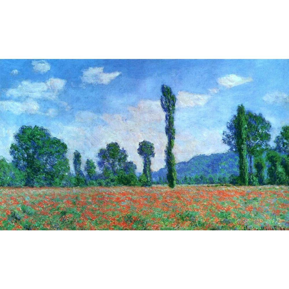 Claude Monet paintings on Canvas Poppy Field in Giverny hand-painted wall art decor High quality