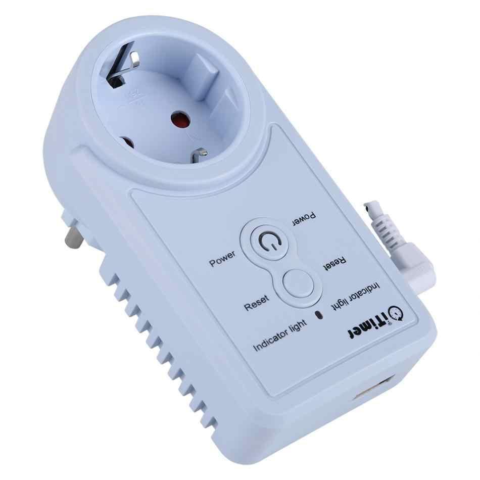 Электронная розетка VBESTLIFE умная GSM розетка с температурным датчиком SMS командный контроллер (русская версия)