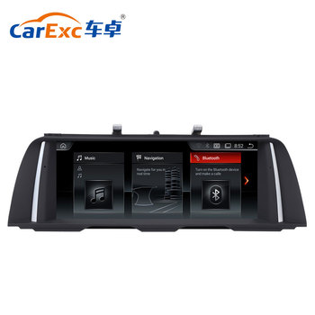 Android 4.4 10.25 Inch Screen Upgrading With GPS BT Navigation Car DVD Radio Player For BMW 5 Series F10 F11 F12 CIC NBT System image