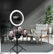 10 «26 см светодиодный кольцевой светильник для фотосъемки с регулируемой яркостью селфи с штативом подставка для телефона держатель для YouTube видео/макияж/Live/Stream