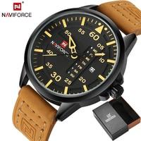 NAVIFORCE Original Luxury Brand Full Steel Army Military Quartz Watche Men Hour Clock Sports Wristwatch Relogio