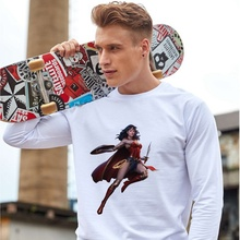 Printing DC Wonder Woman Cool Hot Illustration Printed Unisex Casual Fashion Sweatshirt Cotton Sweatsuit Gift